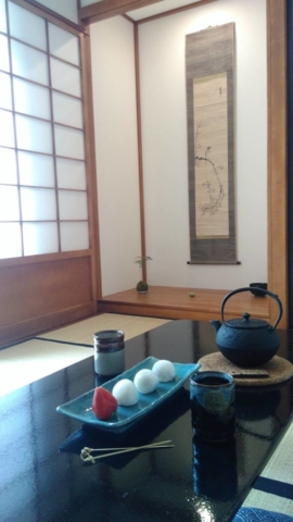 Dessert japonais dans un ryokan en France